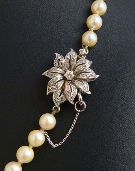 cc57160cc242 Collar de una vuelta de perlas cultivadas japonesas